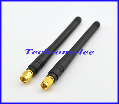 Free shipping 10pcs/lot 2-3dbi 433MHZ rubber antenna with SMA male plug straight connector