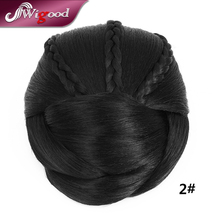 Wholesale 3PCS/Lot Women Chignon Hairstyle Fake Hair Braids Natural Hair Bun Clip In Hair Bun Extensions Postiche Chignon Wigood