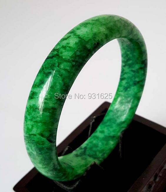 Natural Green Jadeite Bangle Womans Green Jade Bracelet Handmade Fashion Jewelry Gift Bangles +certificate 58-62mm<br><br>Aliexpress