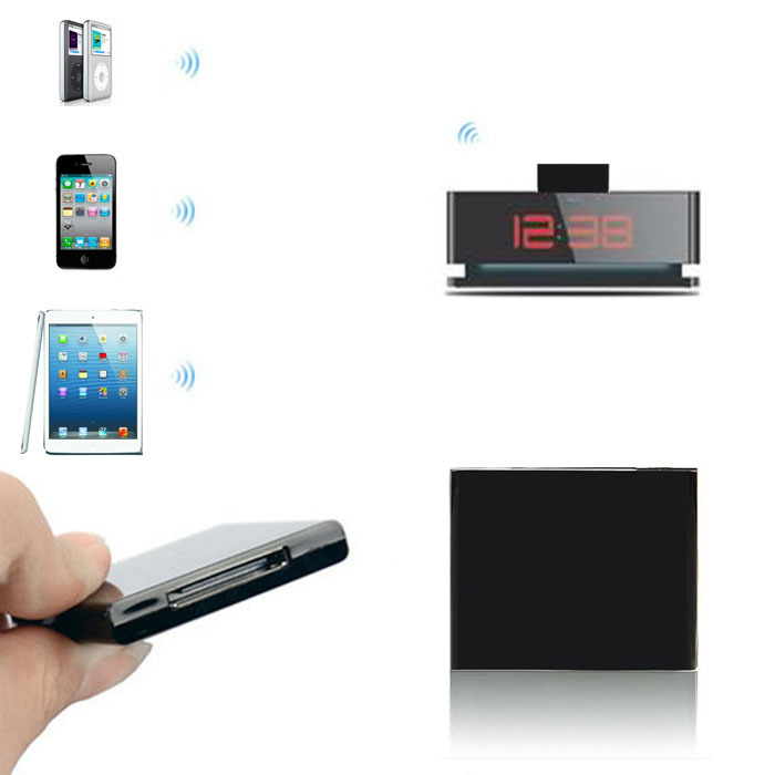New Bluetooth Music Audio 30 Pin Receiver Adapter For iPhone Dock Speaker Lucky(China (Mainland))