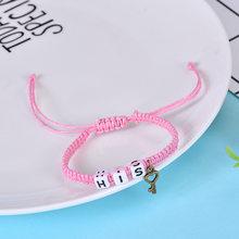 2 pulseras de pareja unids/par Cool Black King y Queen con llaveros cadenas de cuerda amantes regalos hechos a mano encanto pulseras Accesorios(China)