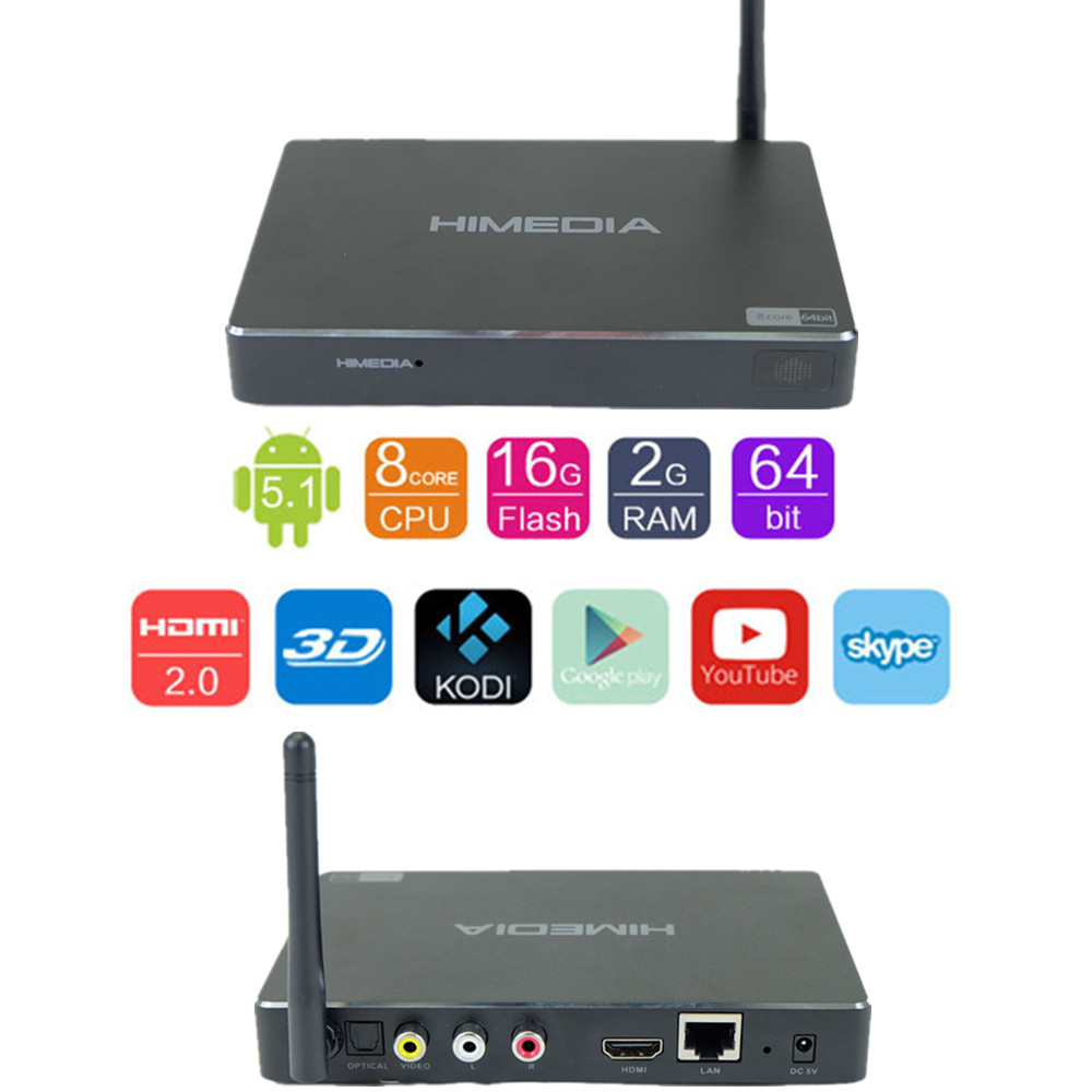 H8 Android set TV Box HDMI H.265 hardware decoding wifi mircast airplay skype google play(China (Mainland))