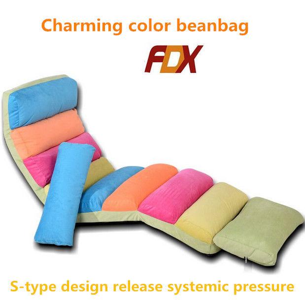Fashion simple cotton sofa bean bag chair portable sofa for Portable living room furniture
