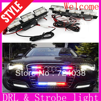 Wholesale discount New 2PCS  2*3 LED Car Daytime Running Light DRL auto Strobe light warning  car styling and parking light