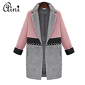 2016 New Autumn Winter Fashion Trend Street Women s Wool Blend Trench Coat Casual Long Outerwear
