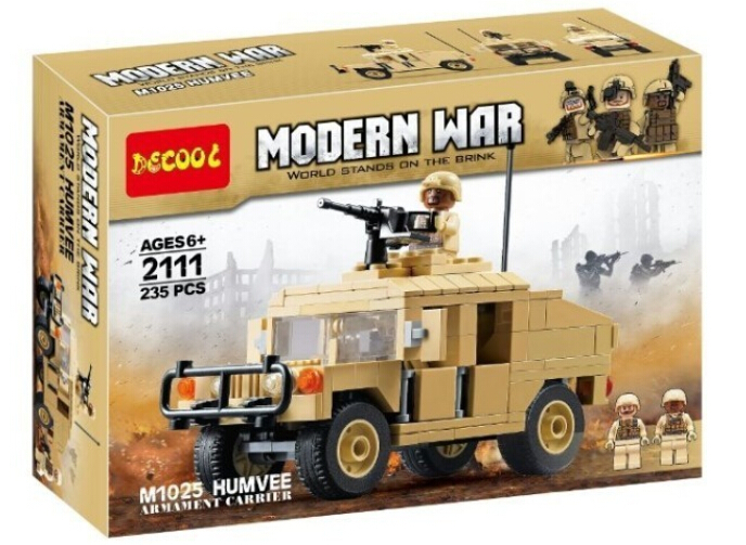 Decool 2111 Building Block Modern War M1025 Army Military Transport Vehicle Brick Toys Minifigure - Dina Toy INC Store store