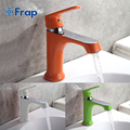 FRAP Innovative fashion style home Multi color bath Basin faucet Cold and hot water taps Green