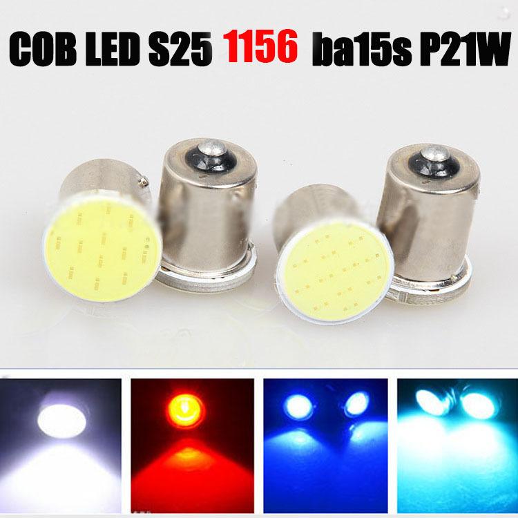 Super White cob p21w 12SMD led 1156 ba15s 12v bulbs car styling RV Truck Interior Light
