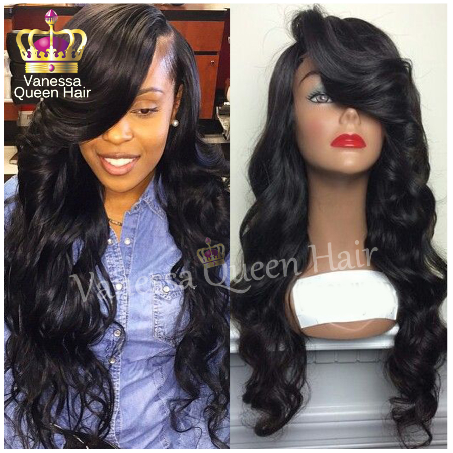 Top Selling Body Wave Lace Front Wig Side Part &amp; Free Part Heat Resistant Synthetic Brazilian Hair For Black Women Fast Shipping<br><br>Aliexpress