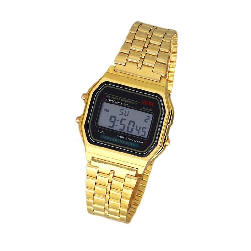 New Fashion gold silver Couple Watch digital watch square military men/ women dress sports watches whatch women gold XW0526(China (Mainland))