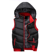 Sleeveless Jackets Men Brand Down Vest Jackets Vests 3XL for Men High Quality Slim Warm Waistcoat Jackets Men New 2015(China (Mainland))