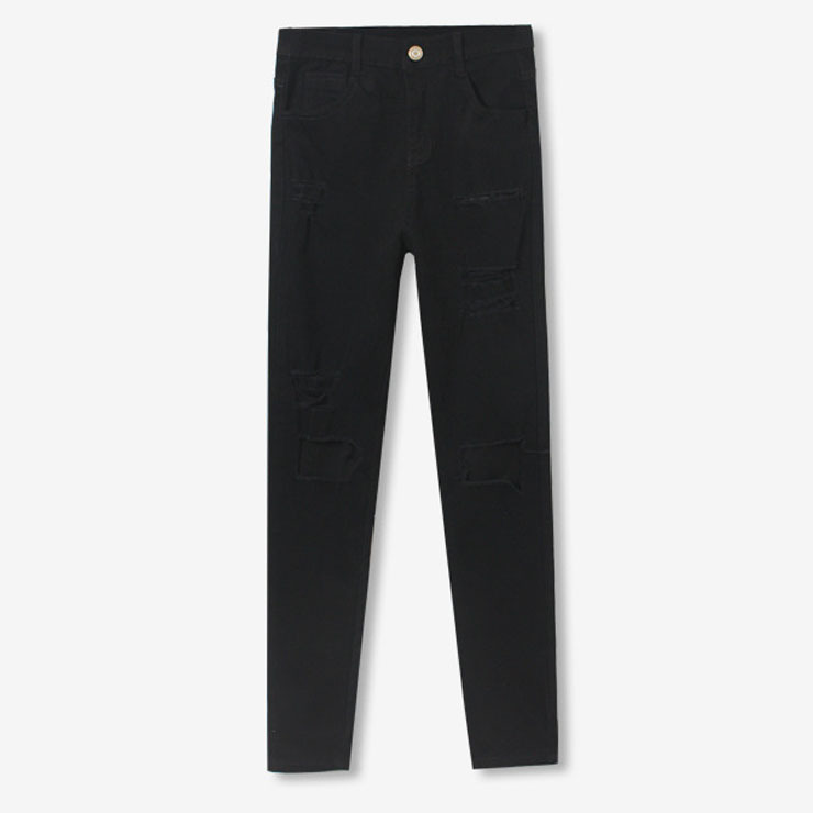 womens black denim stretch jeans - Jean Yu Beauty