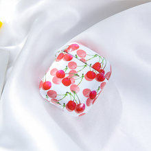 Cute Cartoon Milk Cherry Earphone Hard Case Cover For Apple Airpods 1 2 Wireless Wired Charging box Accessories Protetctor bag(China)