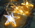 AC220V 5M 28 LED Party fairy Lights Battery Five pointed Star LED Christmas string lights for