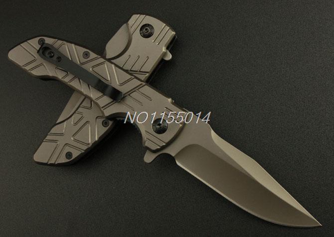 New Bok DA32 folding knife blade 440 steel processing of titanium coating Freeshiping hunting camping knife