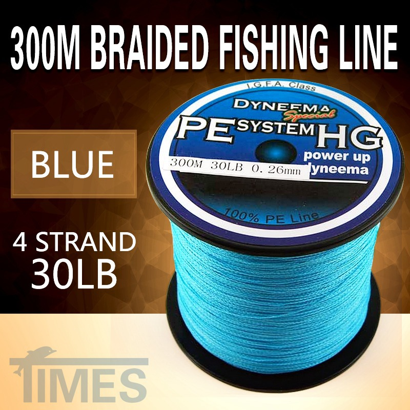 New 2014 300m 30lb blue 4 strand braided wire for 30 lb braided fishing line