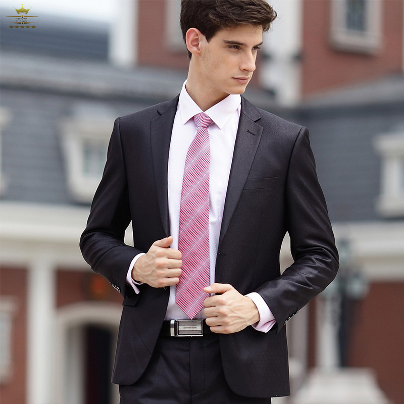 Здесь можно купить  Business Custom Made Grooms Mens Tuxedos Men Suits With Pants Brown Notch Lapel One Button   Jacket + Pants+Tie    JY035 Business Custom Made Grooms Mens Tuxedos Men Suits With Pants Brown Notch Lapel One Button   Jacket + Pants+Tie    JY035 Одежда и аксессуары