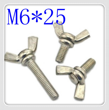 20PCS High Quality M6*25 Stainless Steel Wing Screw( Butterfly Screw)<br><br>Aliexpress