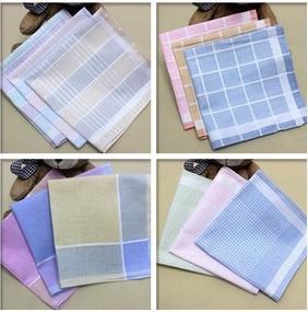 10pcs/lot New 100% Cotton Classic Soft Comfort Plaid Woman Handkerchief Wholesale Ladies Cotton Handkerchiefs Pocket Square(China (Mainland))
