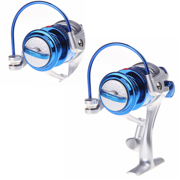 Hot selling NEW 8BB Ball Bearings Left/Right ST2000 Interchangeable Collapsible Handle Fly Fishing Spinning Reel 5.1:1 Blue(China (Mainland))