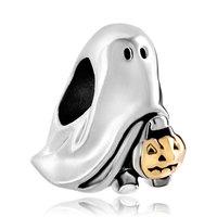 pugster позолоченные странные Хэллоуин Джек о фонарь призрак тыква конфет из бисера Шарм подходит браслет шармы Пандора