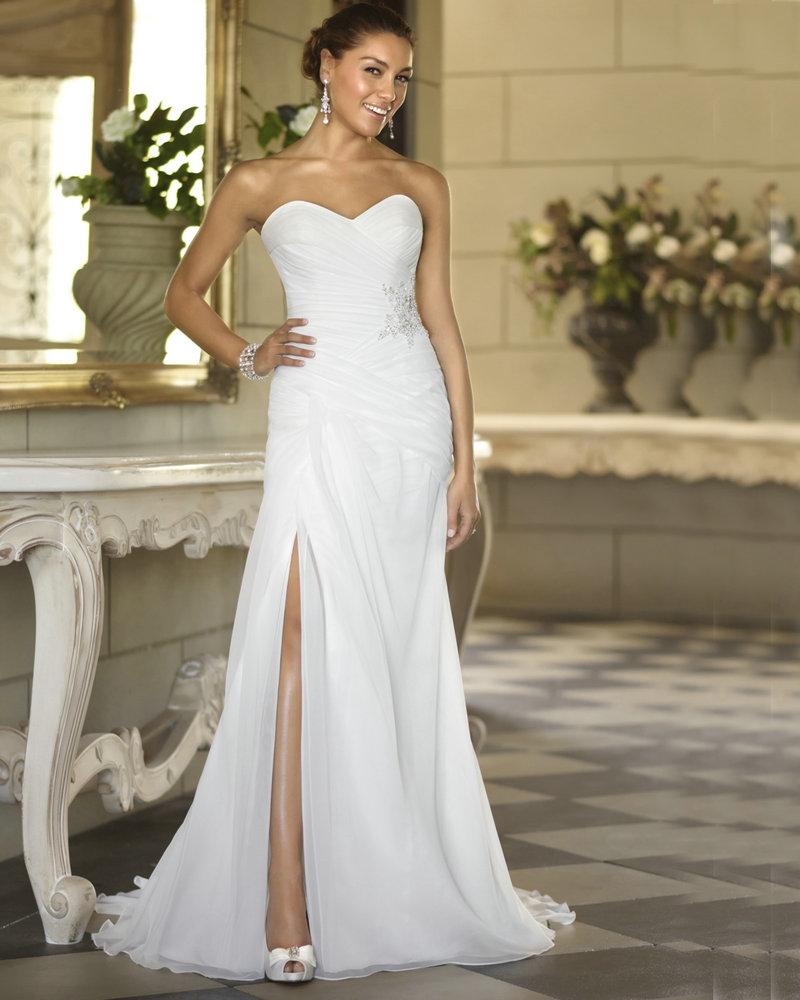 Inexpensive Chic Wedding Dresses : Beach wedding dress chiffon cheap price bohemian style dresses