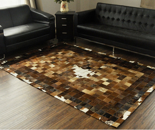 1 piece 100% natural cow leather rug carpet - made in China store