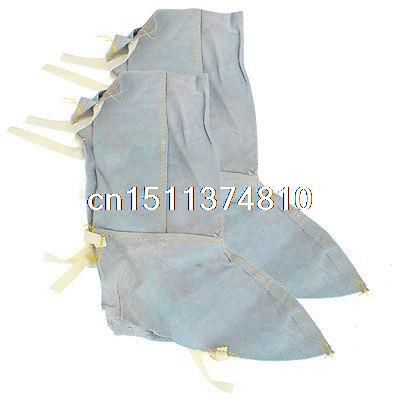 Pair Removable Faux Leather Foot Leg Guard Protecting Pad Beige for Carpenter(China (Mainland))