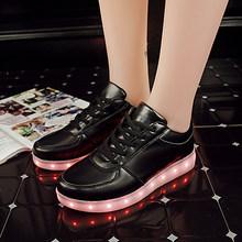 7 ipupas 2018 Yeni Beş kişi yürümek çocuklar Aydınlık sneakers Trend Graffiti Aydınlatma Led Ayakkabı Parlayan sneakers erkek kız(China)