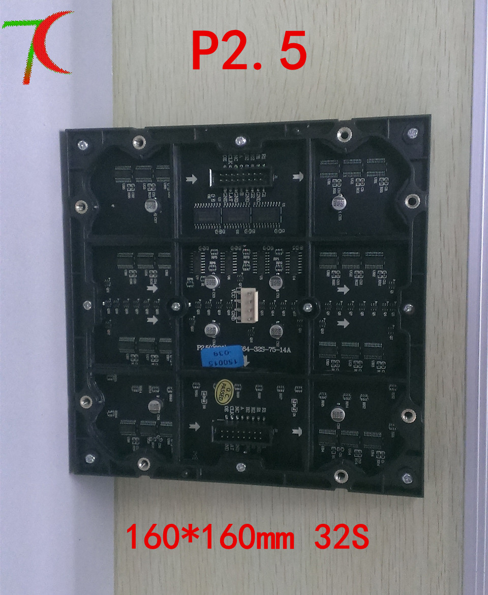 Watch P2.5 indoor for hotel, multimedia,goverment,advertisement full color module ,32S SMD 1RGB, 160mm*160mm(China (Mainland))