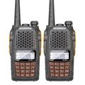 2PCS Lot Baofeng UV 6R Intercom Professional CB Radio Dual Band 128CH LCD Display Wireless Baofeng