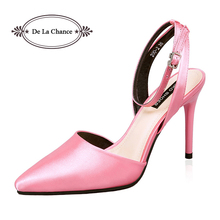 New Shoes Woman 2016 Satin Women Stilettos High Heels Red Bottom Pointed Toe Thin Heels Women Party Shoes Ladies Pumps Shoes