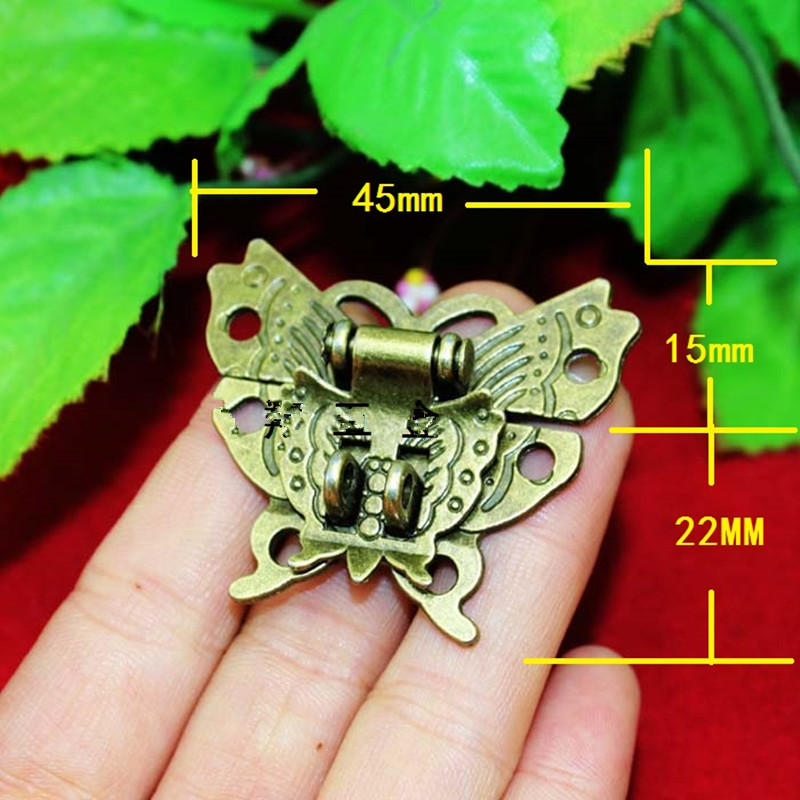 Butterfly Buckle Hasp Hasp Wooden Wine Box With Lock Buckle Antique Padlock Hardware,Zinc Alloy,45*37mm