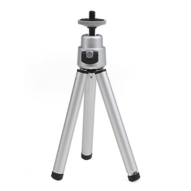 Mini Flexible Tripod Portable For Camera Silver Color(China (Mainland))