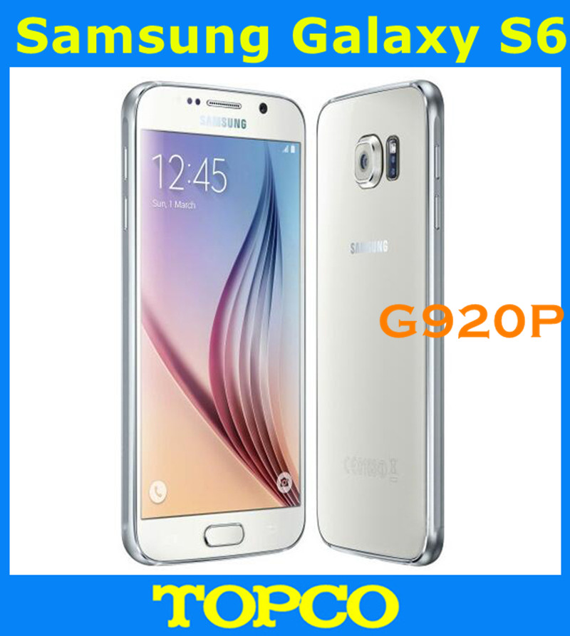 "Samsung Galaxy S6 Original Unlocked 4G GSM Android Mobile Phone G920P Sprint Octa Core 5.1"" 16MP RAM 3GB ROM 32GB Dropshipping(China (Mainland))"
