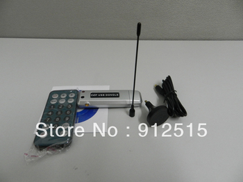 Free Shipping Computer Laptop PC USB 2.0 DVB-T Mini FM TV Tuner Receiver with Remote Control