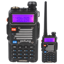 128 Memory Channels POFUNG UV-5RU Walkie Talkie with Frequency Range VHF/UHF 136-174/400-520MHz