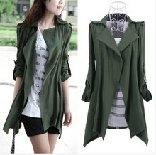 New Nice Spring Autumn Fashion Women Cardigan Slim Long Style Plus Size Trench Coat Loose Outerwear For Women Clothing