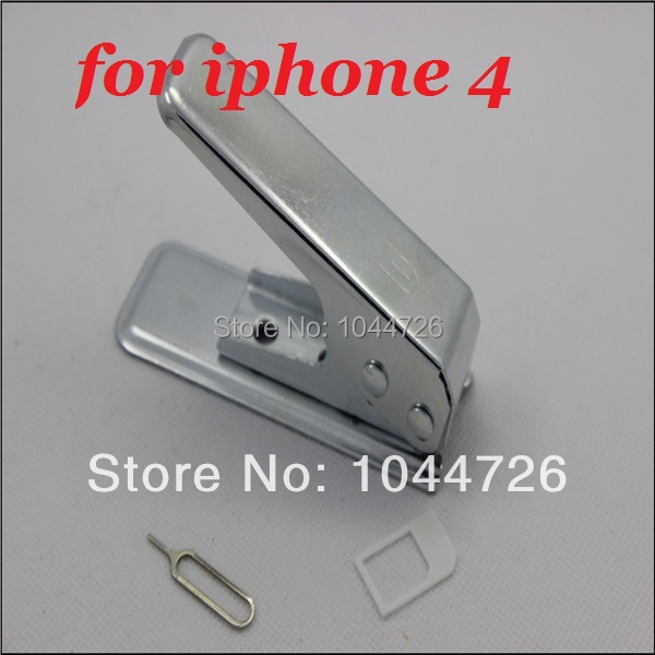 100pcs/lot Micro SIM Card Cutter for ipad iphone 4 4S with Nano Micro Standard SIM Card Adapter& sim card tray holder