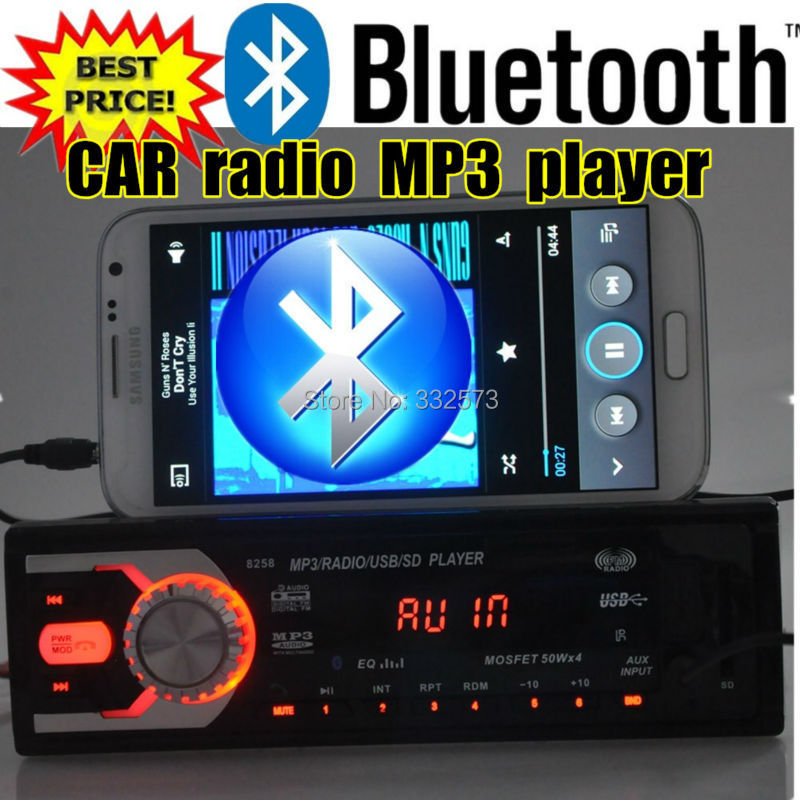 NEW 12V Car Audio,Car Radio Car Stereo Mp3 Player SD USB Drive 1 Din In-Dash suppot bluetooth,LED Screen,w/ remote control 1131B(China (Mainland))