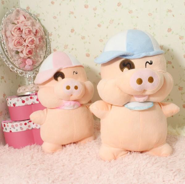 Super! saco de correio 40 cm amantes do porco porco McDull porco boneca de brinquedo de pelúcia grande aniversário da menina boneca para o Natal(China (Mainland))