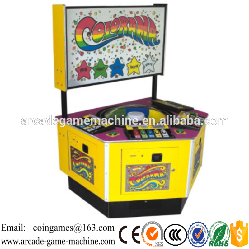 2015 New Amusement Park Center Arcade 4 Players Coin Operated Lottery Redemption Prize Colorama Roulette Games Machines<br><br>Aliexpress