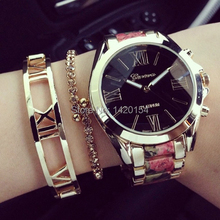 New GENEVA Floral Gold Watch Fashion Quartz Women Dress Watches