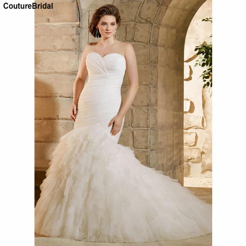 Plus size mermaid wedding dresses elegant large size for Plus size wedding dresses okc