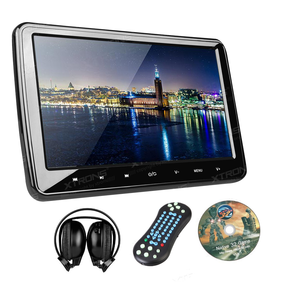 "10.1"" Auto Portable Monitor Car Headrest DVD Player HDMI 1024*600 HD Screen Car PC Audio Touch Button USB SD IR FM CD Game Video(China (Mainland))"