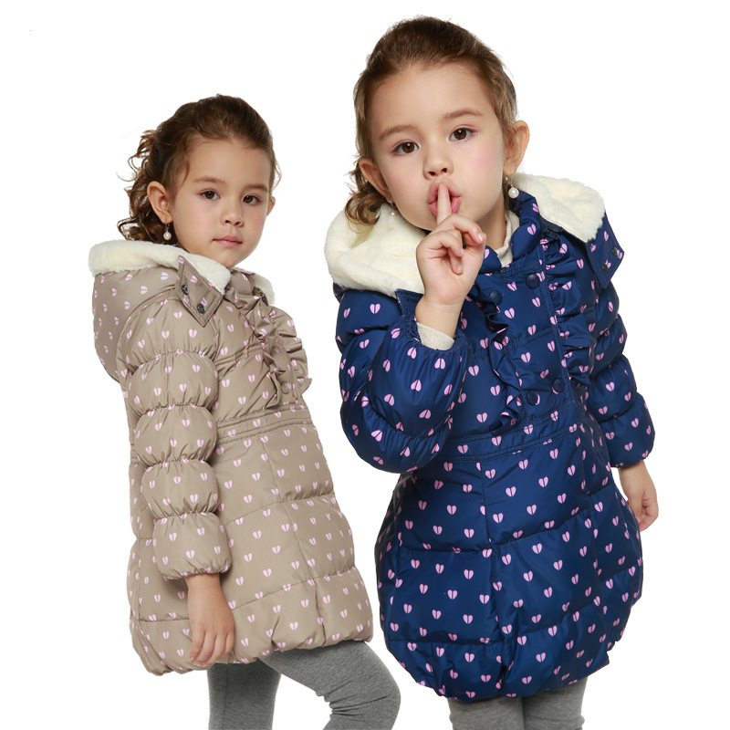 Kids Down Parka Winter Clothes Coat Jakcets For Boys Grils Cartoon Short Warm Hooded Duck Down Jacket Baby Winter Clothes