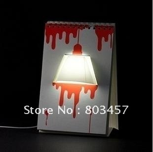 Amazing Gift ! Hot Selling DIY USB Creative Page by Page modern LED desk Table Lamp Wholesale, Excellent packing+Free shipping
