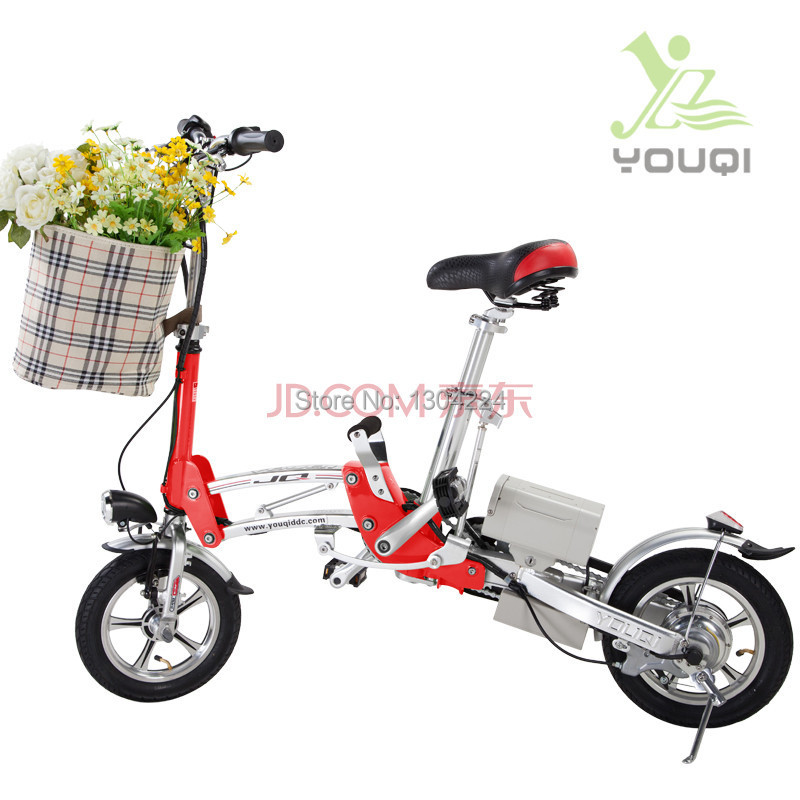 JQ V2 leisurely 12-inch folding electric bikes electric cars environmentally friendly lithium FOLDING(China (Mainland))