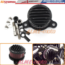 Black Air Cleaner+Intake Filter System RC Case For Harley sportster XL883/1200 04-12 air filter(China (Mainland))