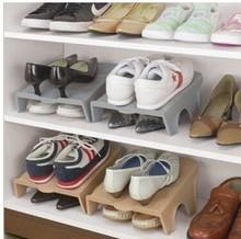 1 piece Creative Home Furniture Adjustable 2 Layer Shoe Rack Organizer Holder Portable Storage Shelf for Shoes Space Saver(China (Mainland))